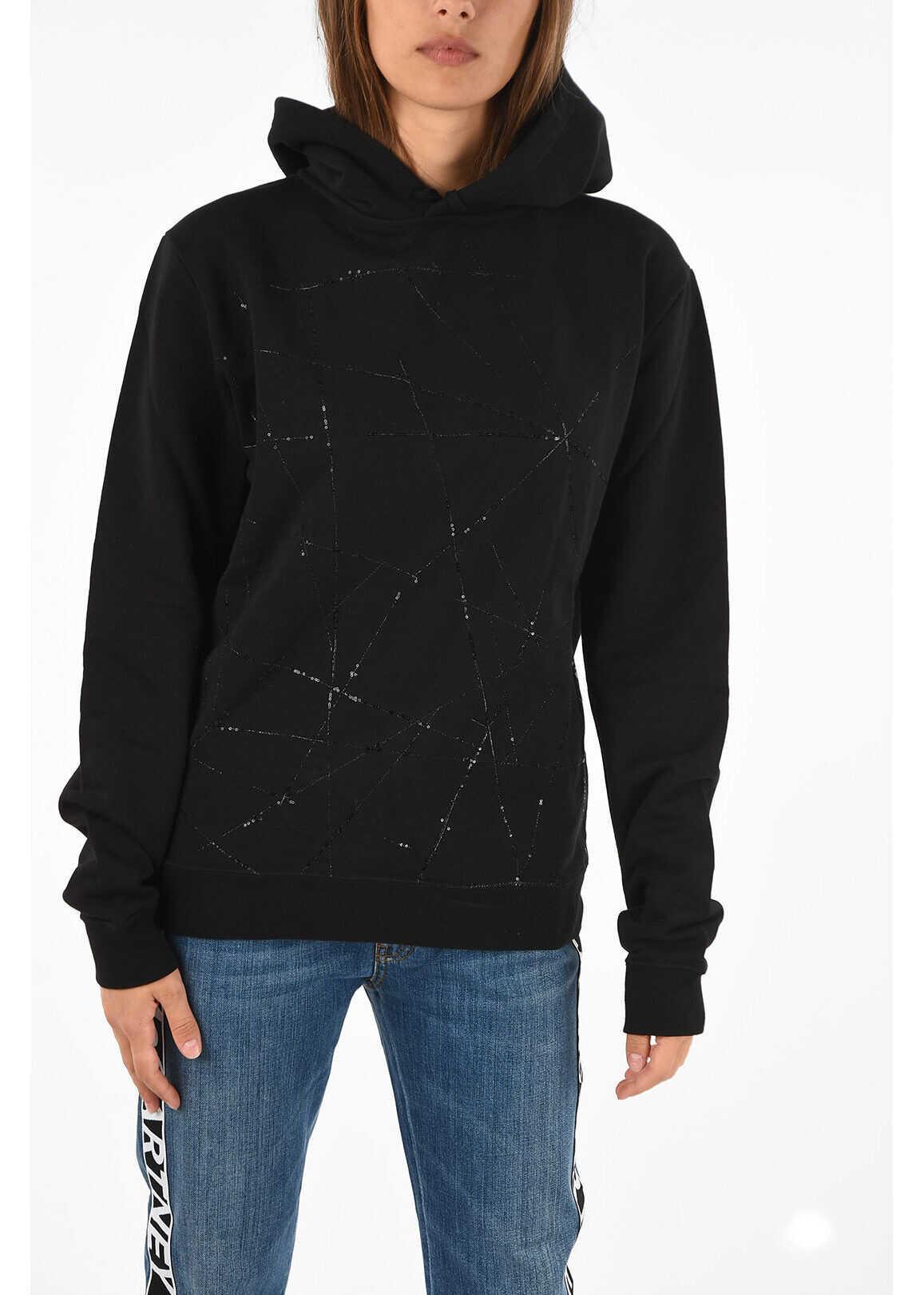 Saint Laurent Sequined Sweatshirt BLACK