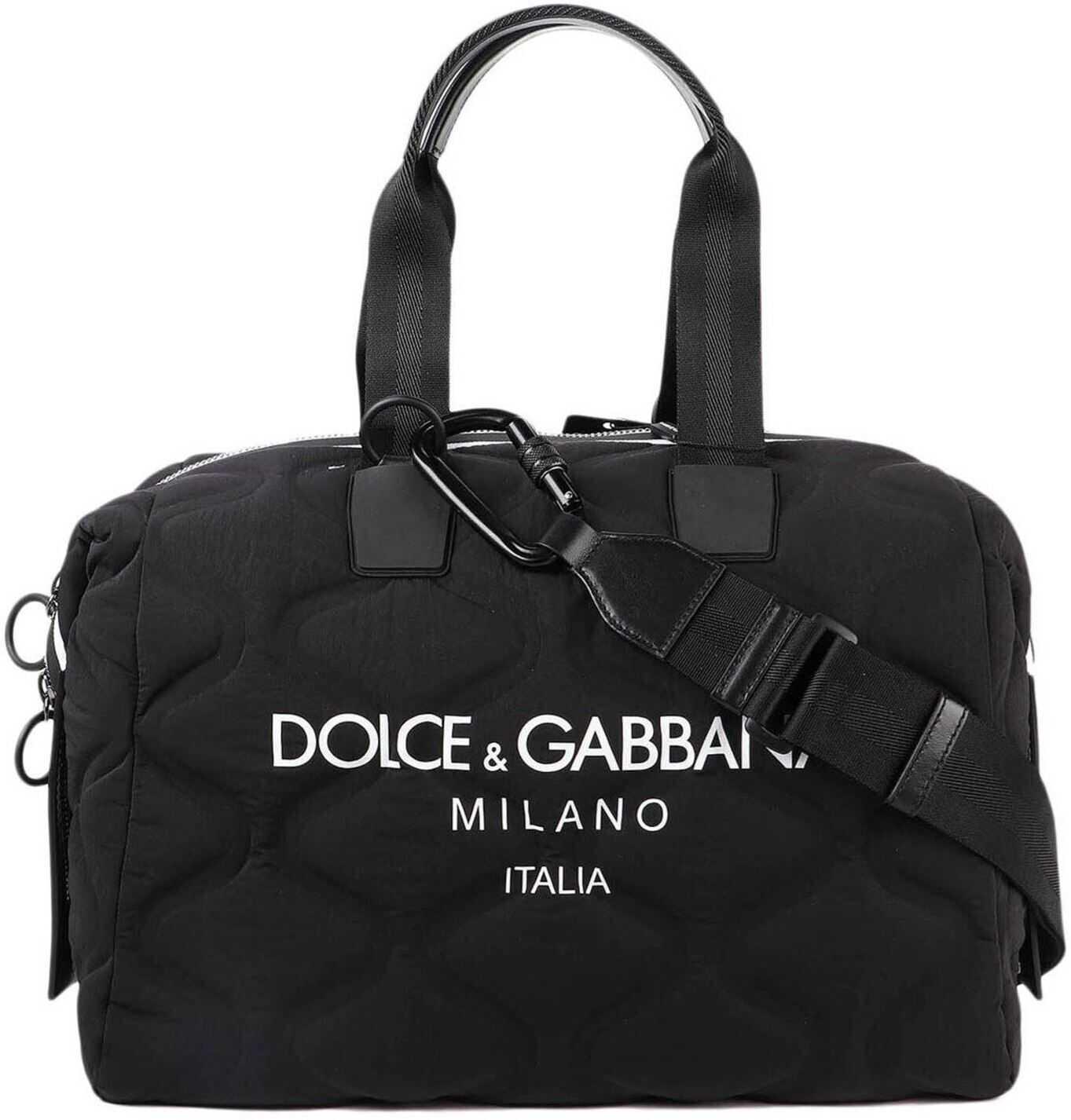 Dolce & Gabbana Palermo Duffle Bag In Black BM1739 AW140 89690 Black imagine b-mall.ro