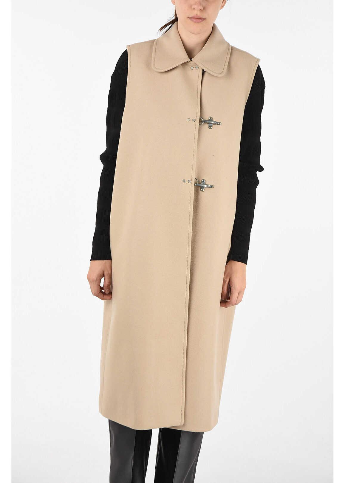 Fay Longline length sleeveless balmacaan coat BEIGE