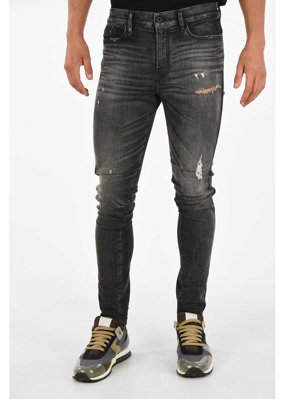 Diesel 15cm Slim Fit D-REEFT-T Jogg Jeans GRAY imagine