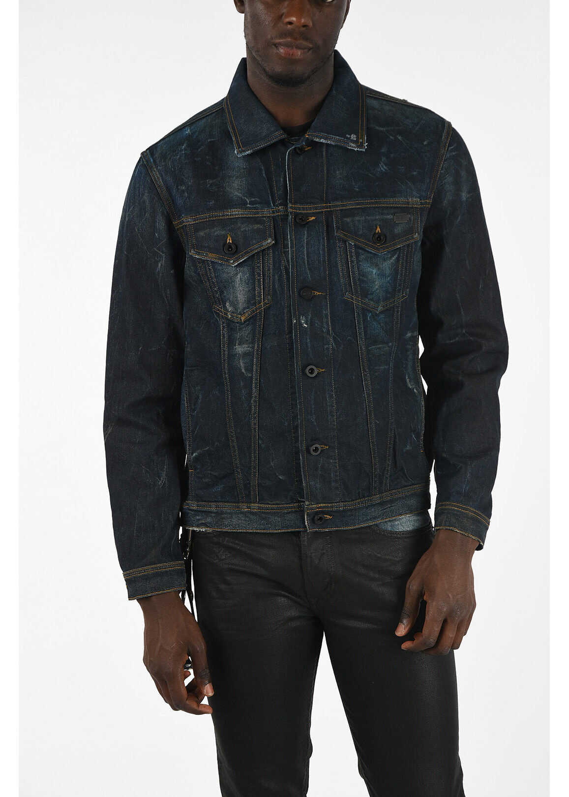 Diesel Denim CL-NHILL Jacket BLUE imagine