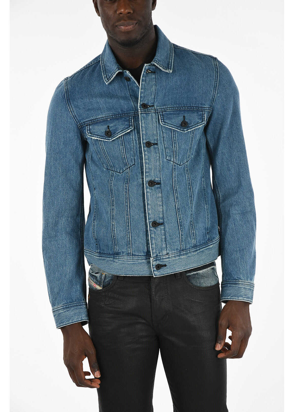 Diesel Denim D-ASHTON-P Jacket BLUE imagine