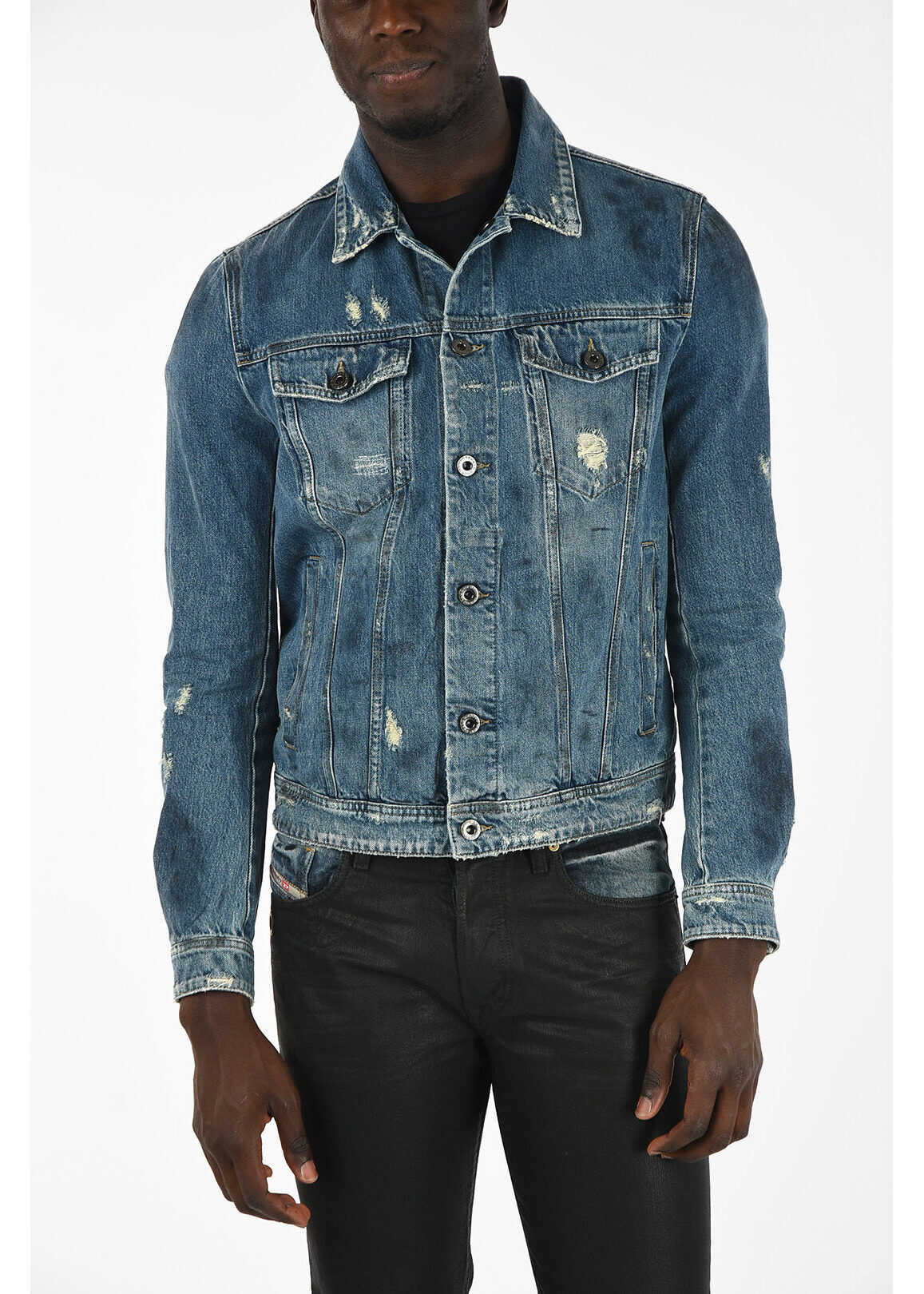Diesel BLACK GOLD Denim JARTE Jacket BLUE imagine