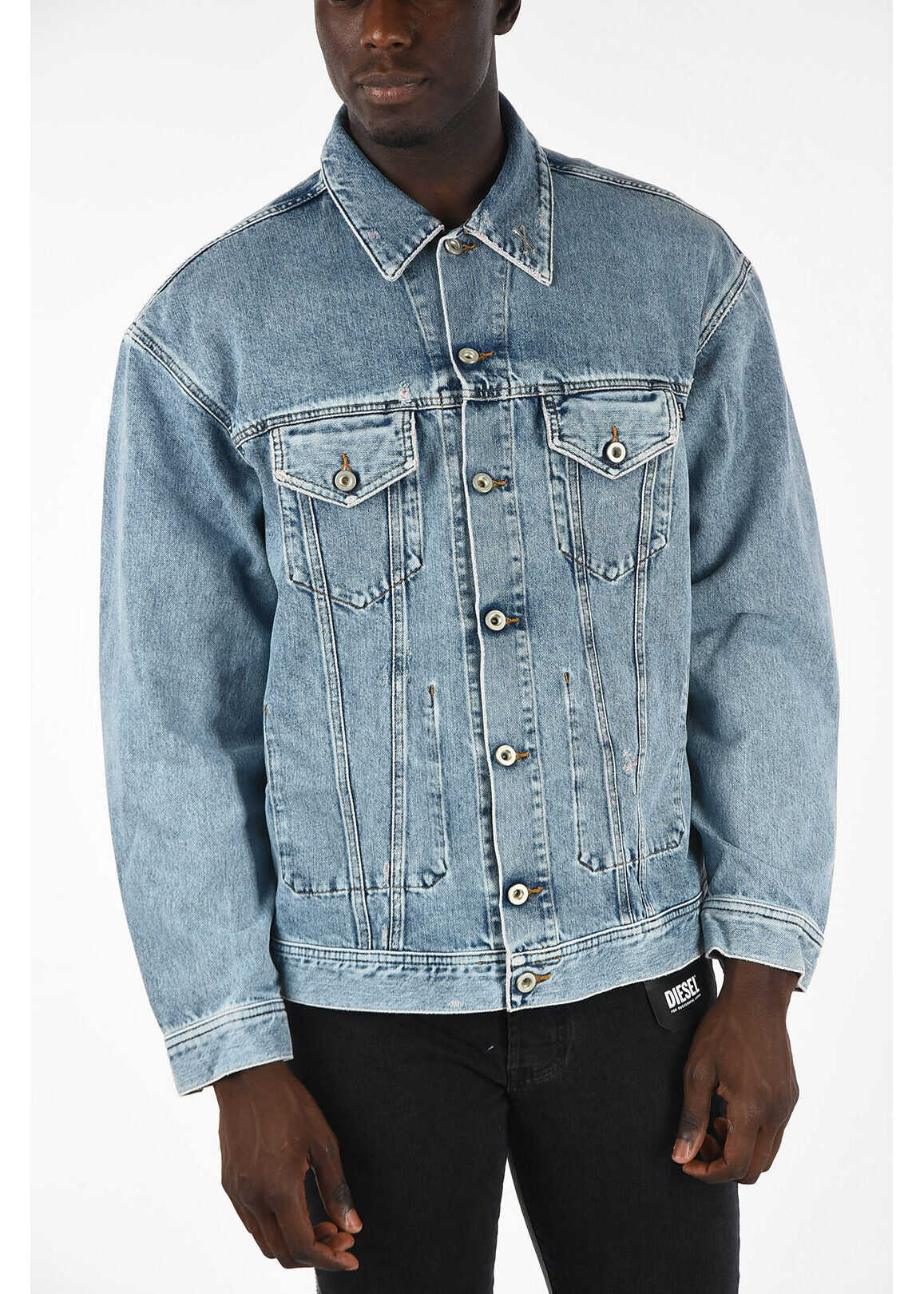 Diesel Denim D-WANO Jacket BLUE imagine