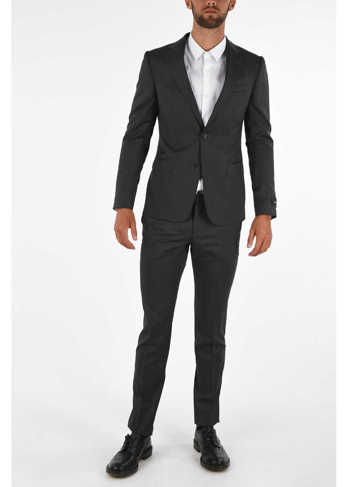 Ermenegildo Zegna ZZEGNA Flap Pocket 2 Button Suit GRAY imagine