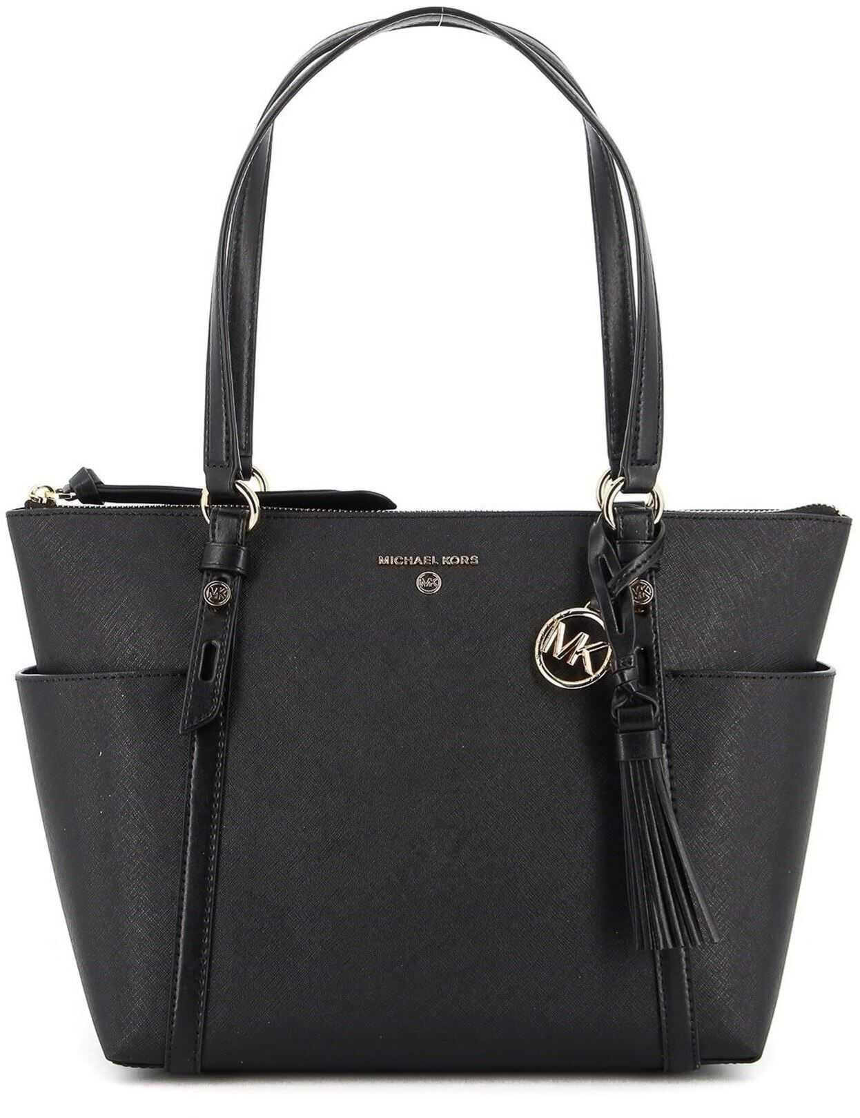 Michael Kors Nomad Medium Tote Bag In Black 30T0GNXT2L BLACK Black imagine b-mall.ro