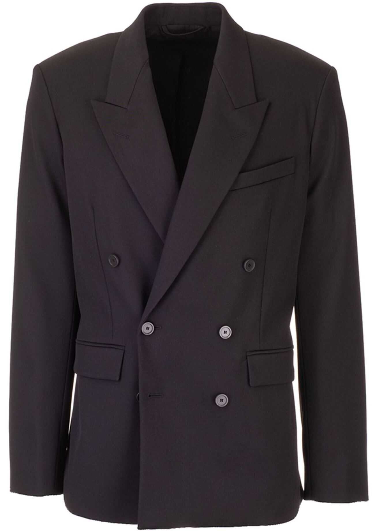 Balenciaga Double-Breasted Jacket In Black Black imagine