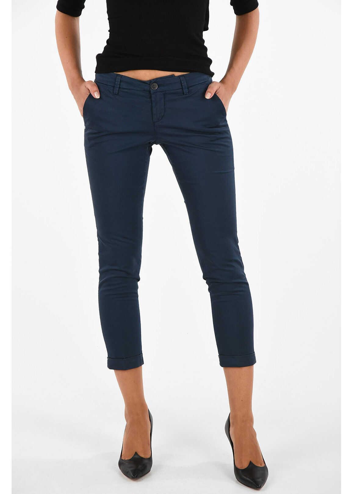 Fay Slim Fit Pants BLUE