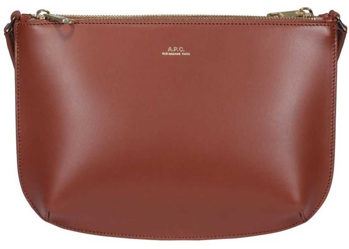 A.P.C. Sarah Bag In Brown PXAWV-F61404 CAD Brown imagine b-mall.ro