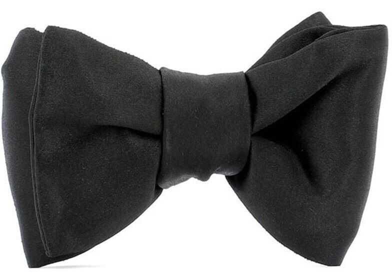 Tom Ford Silk Bow Tie In Black Black