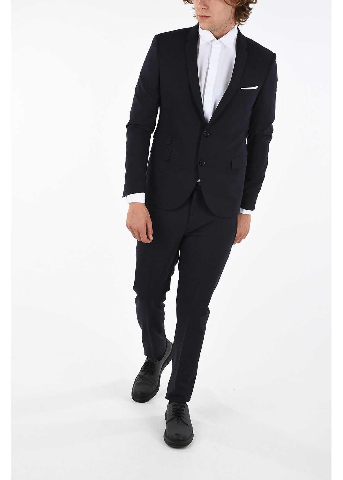 Neil Barrett Super Skinny Fit Suit BLUE imagine