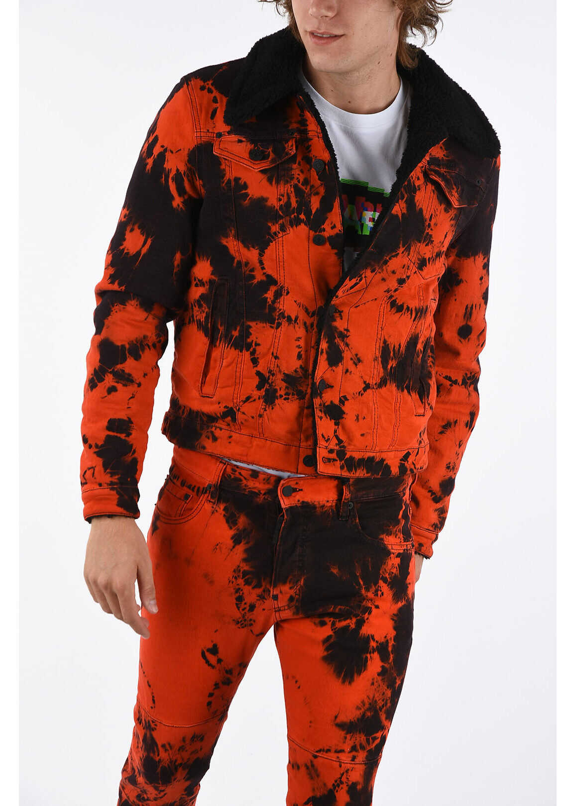 DSQUARED2 Denim Printed OVER Jacket RED imagine
