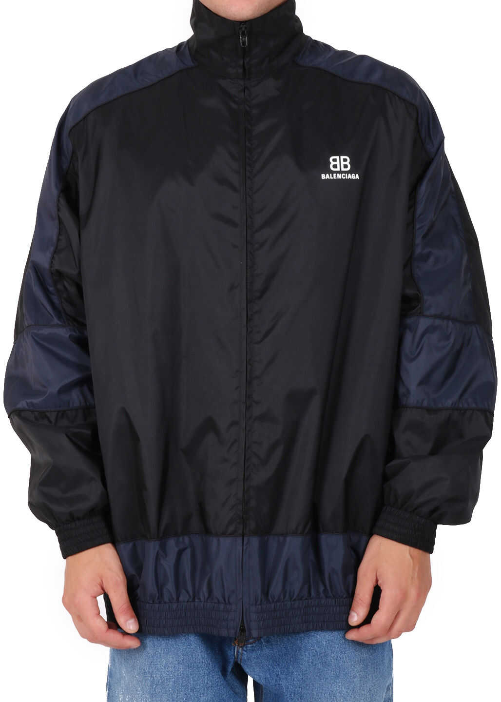 Balenciaga Color Block Bb Jacket Black imagine