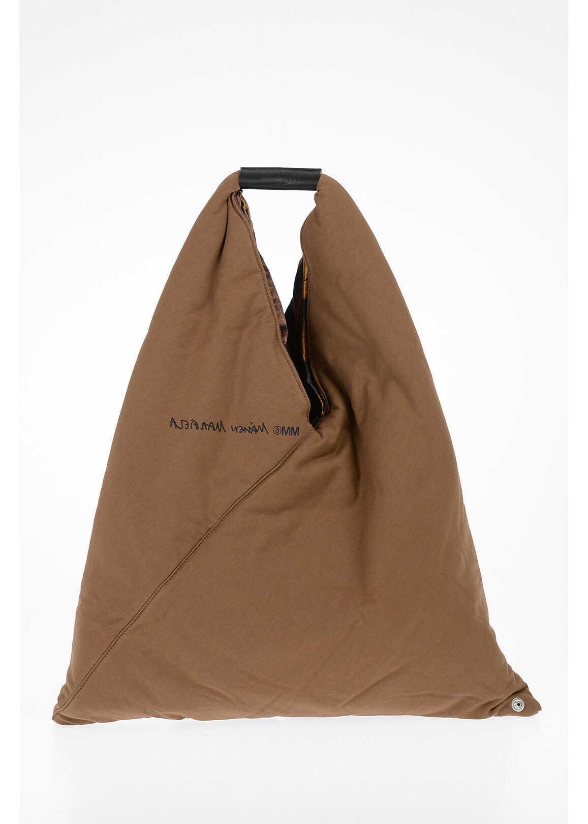 Maison Margiela MM6 Fabric Hand Bag BROWN imagine b-mall.ro