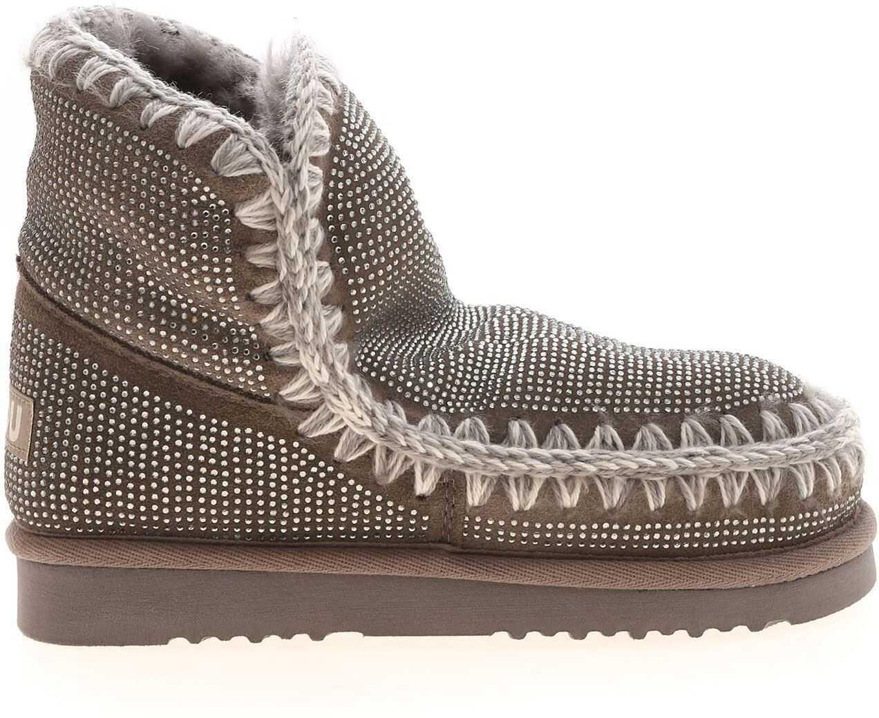 Mou Eskimo 18 Full Sneakers In Grey MU.FW101039A NGRE Grey imagine b-mall.ro