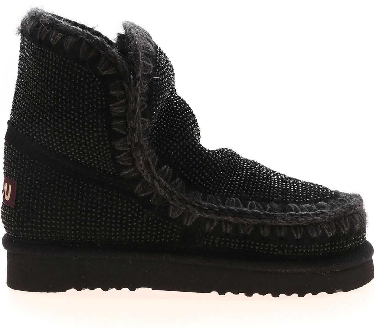 Mou Eskimo 18 Full Sneakers In Black MU.FW101039A BKBK Black imagine b-mall.ro