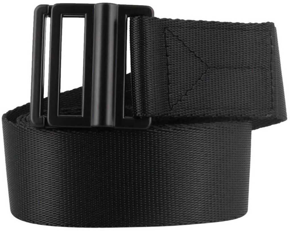 Y-3 Logo Print Nylon Belt In Black Black