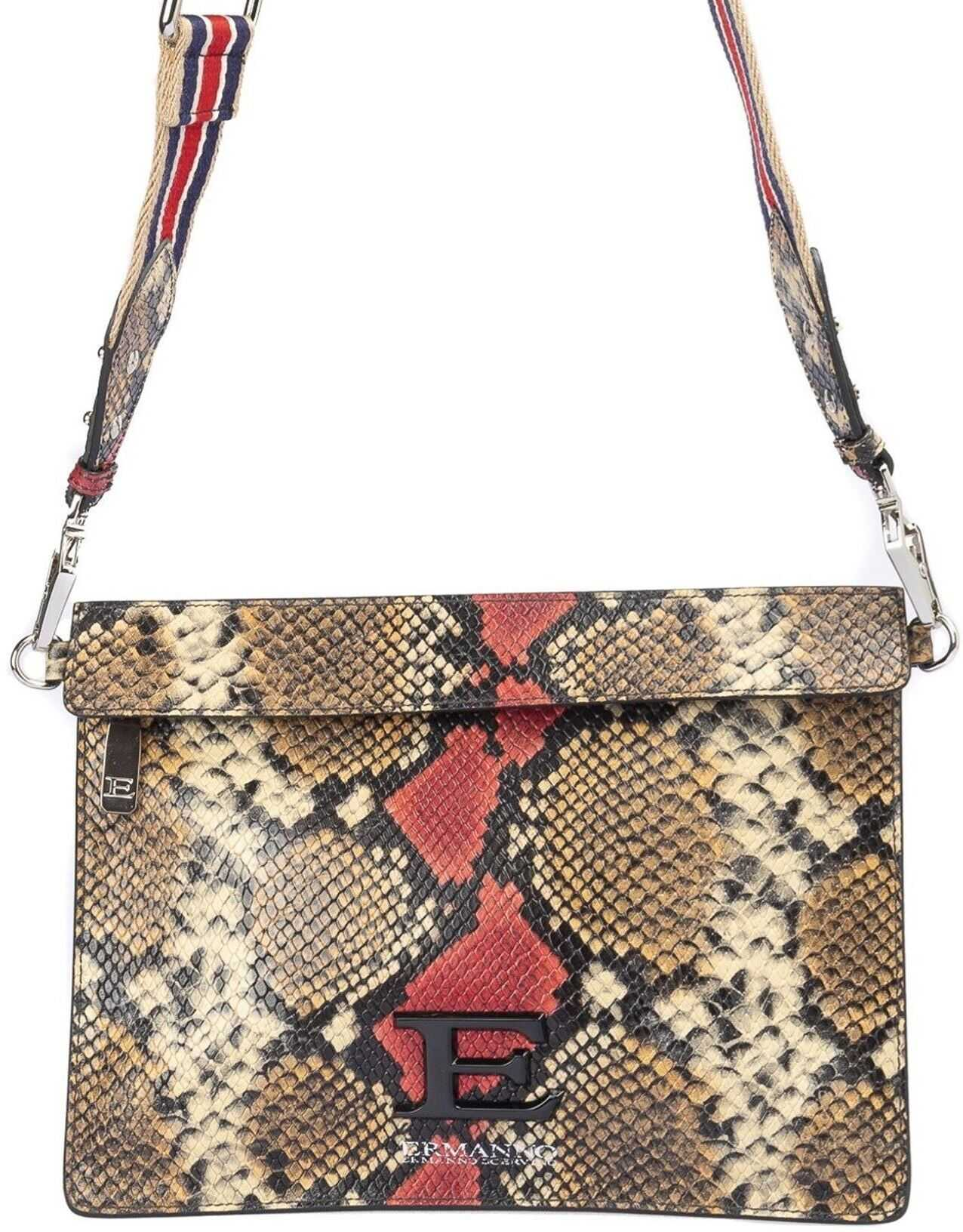Ermanno Scervino Snake Print Leather Cross Body Bag 12400785ES2 47333 Animal print imagine b-mall.ro