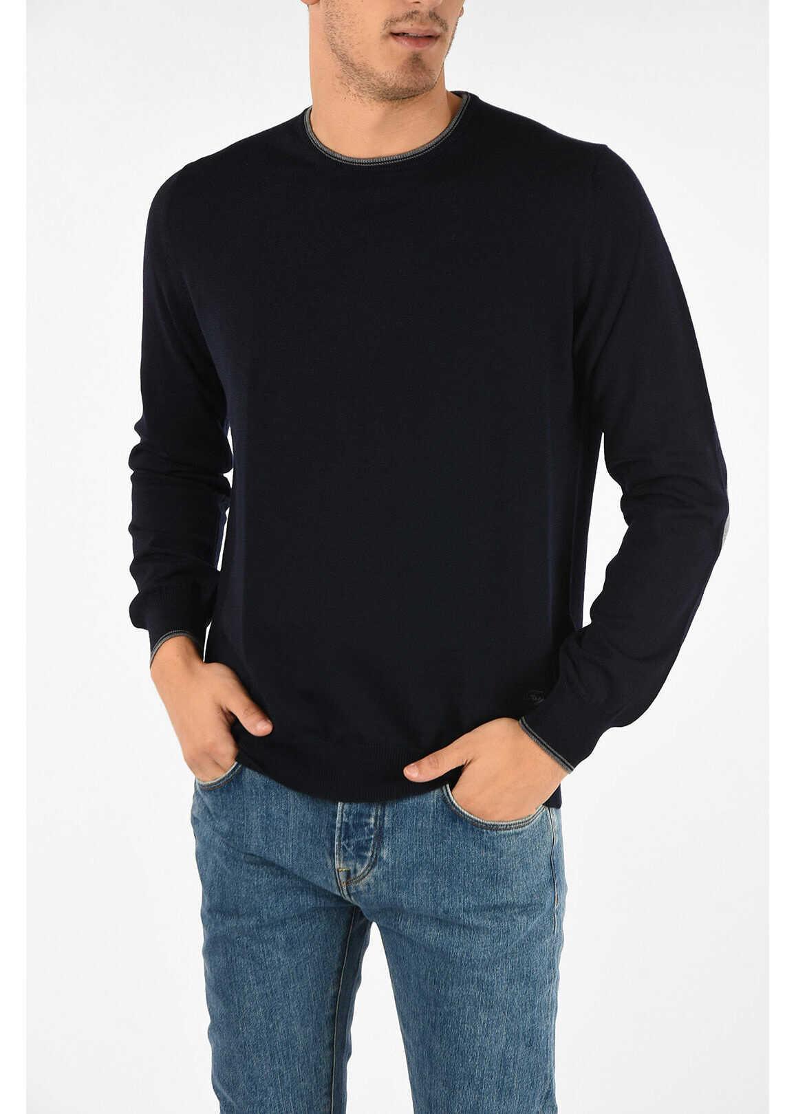 Fay virgin wool crew-neck sweater BLUE