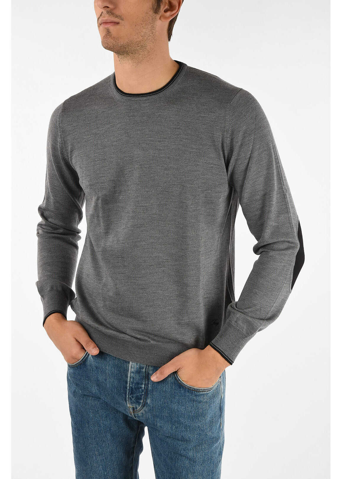 Fay virgin wool crew-neck sweater GRAY