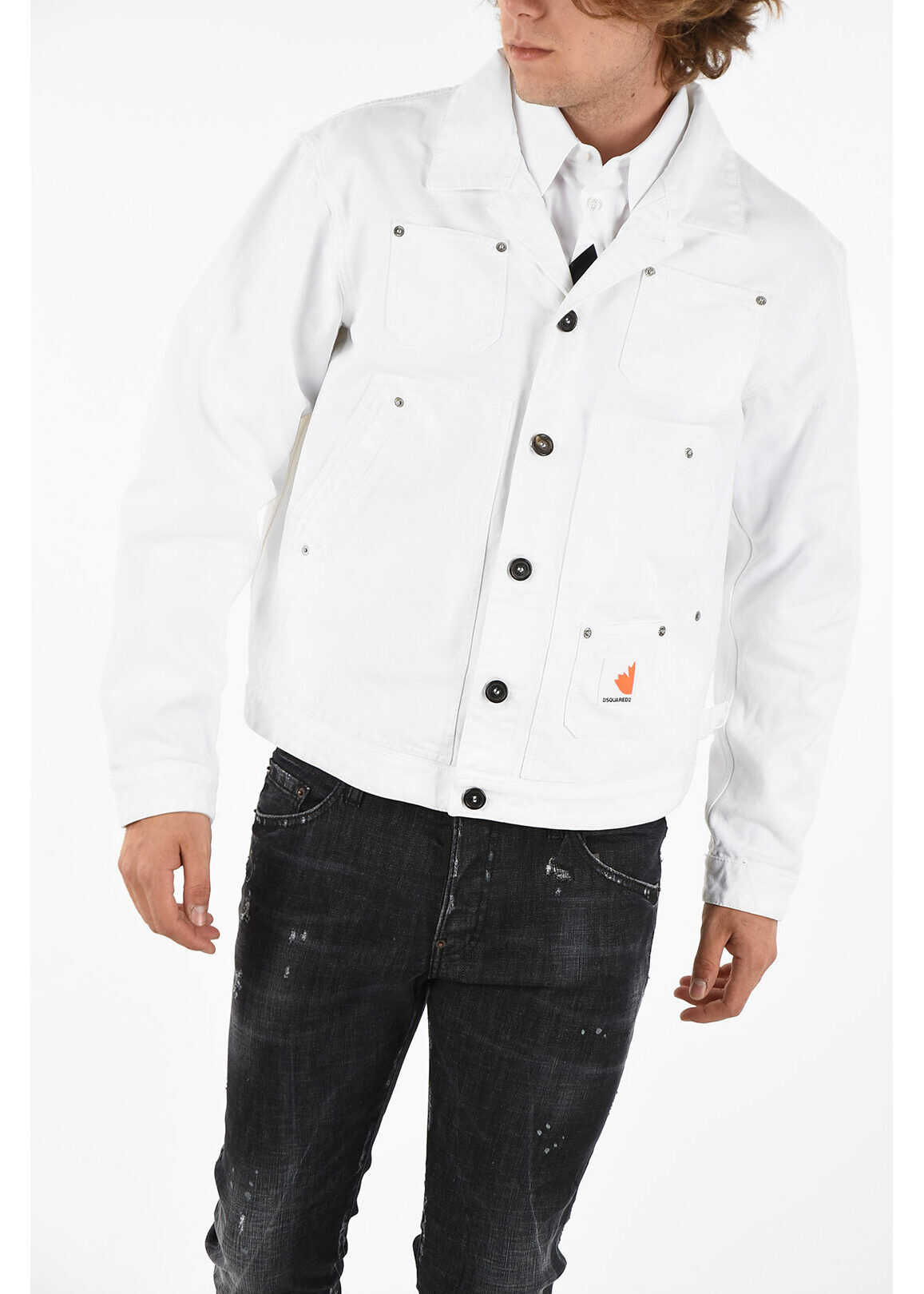 DSQUARED2 Denim OVER Jacket WHITE imagine