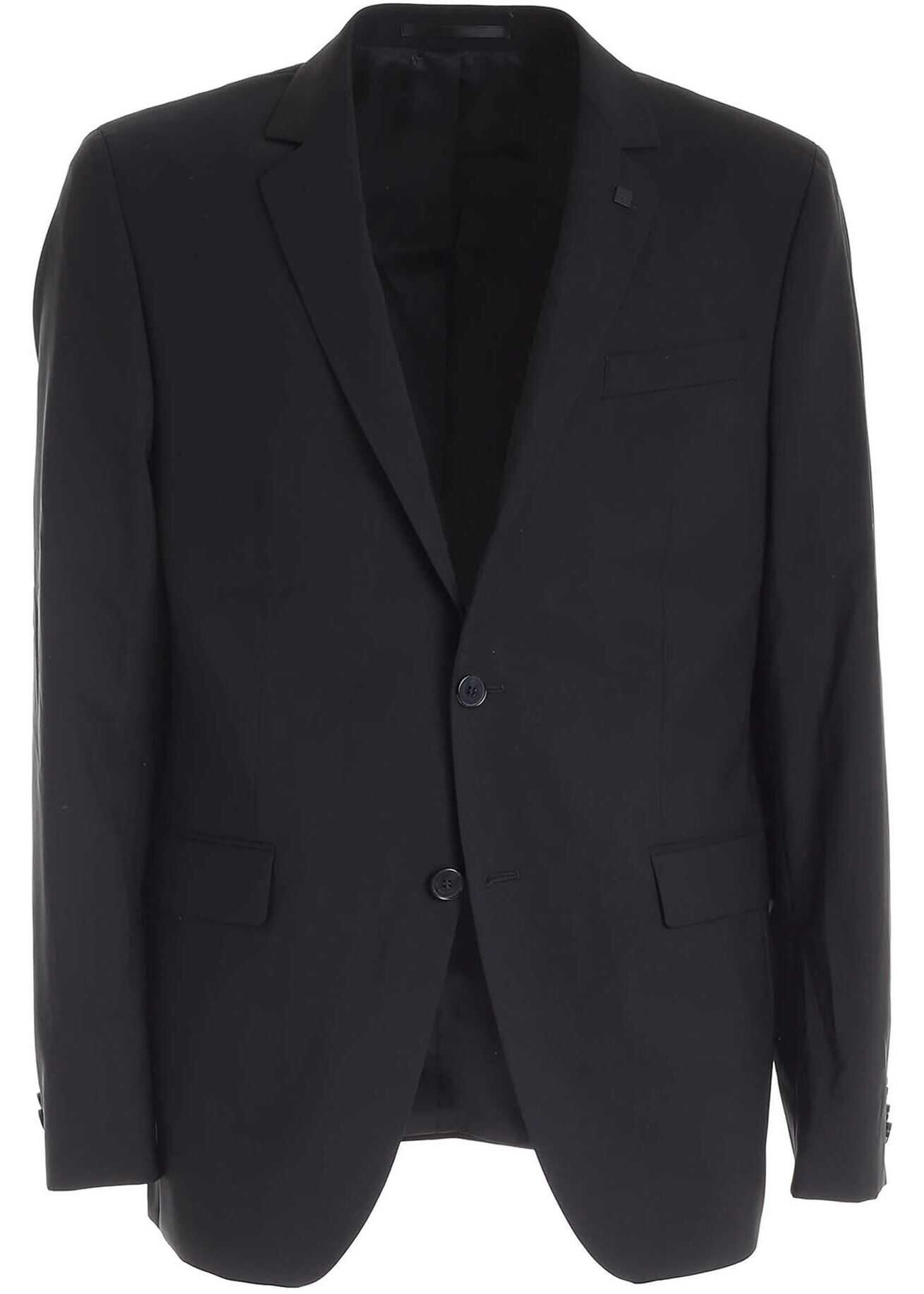 Karl Lagerfeld Two-Buttons Jacket In Black Black imagine