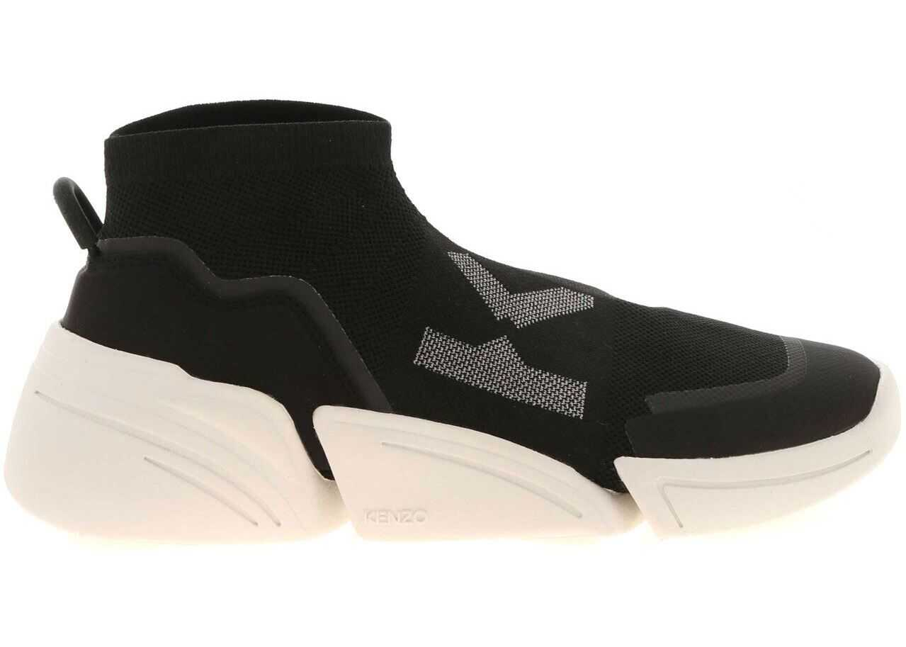 Kenzo K-Sock Slip-On In Black 5SN452 F65 99 Black imagine b-mall.ro