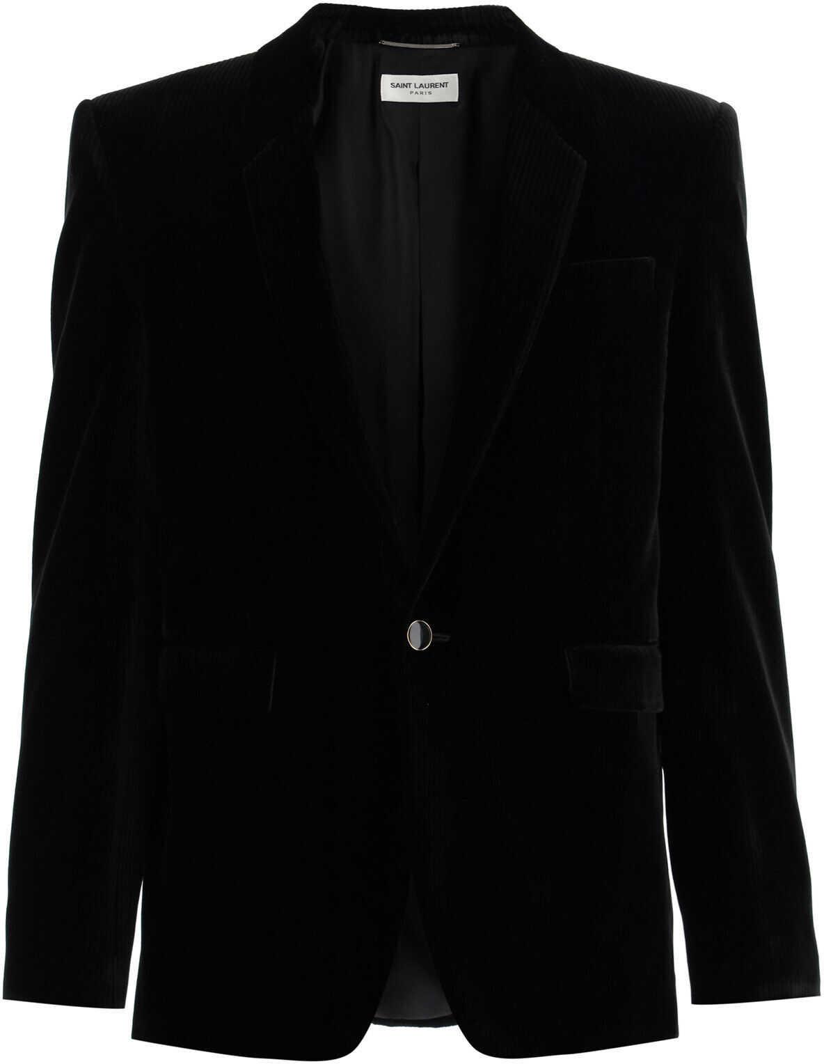 Saint Laurent Velvet Blazer BLACK imagine