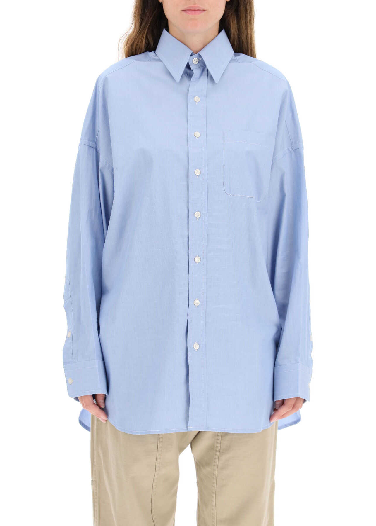 R13 Oxford Oversized Shirt R13W7766C98 LIGHT BLUE image0