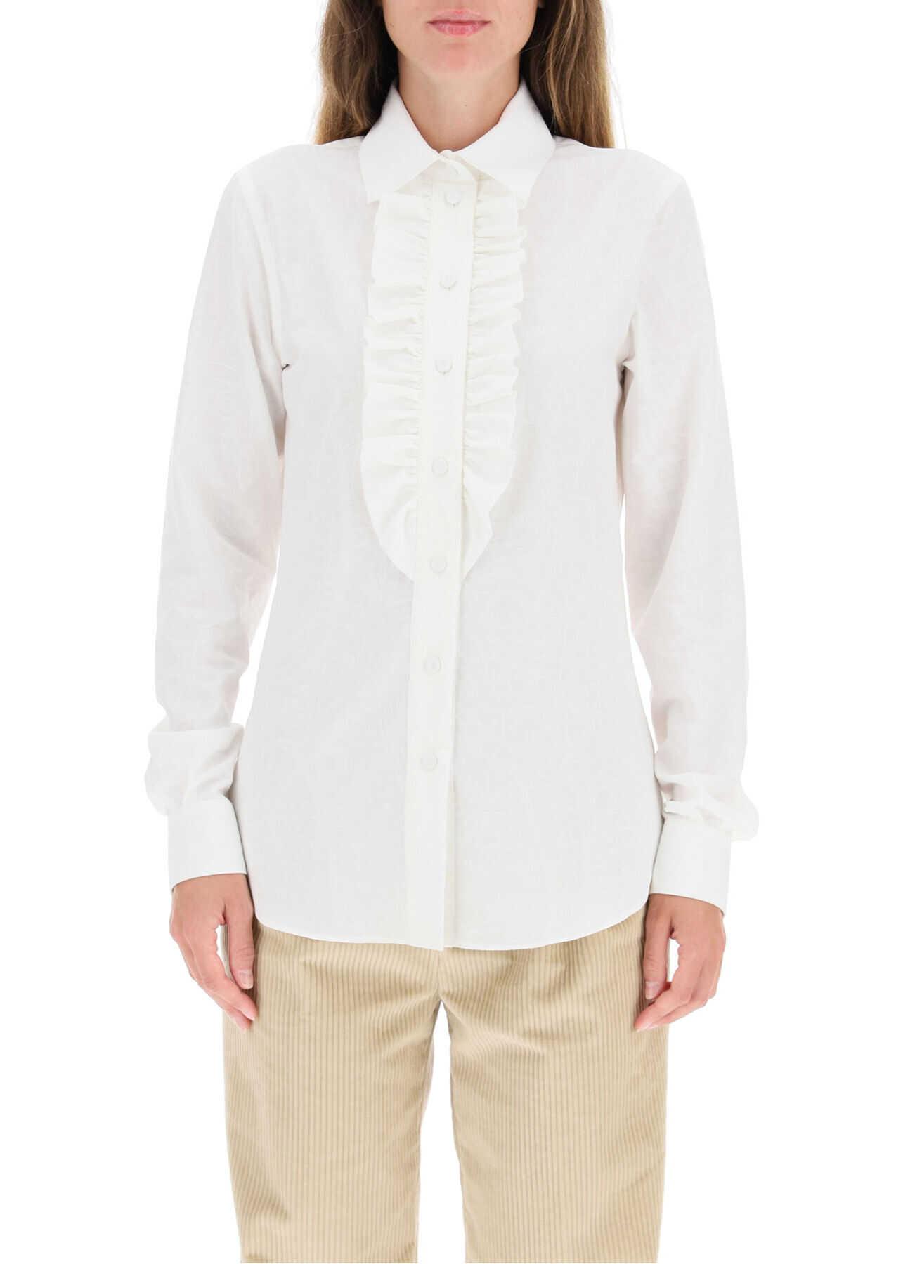 Moschino Poplin Jacquard Shirt A0214 5436 FANTASIA BIANCO image0