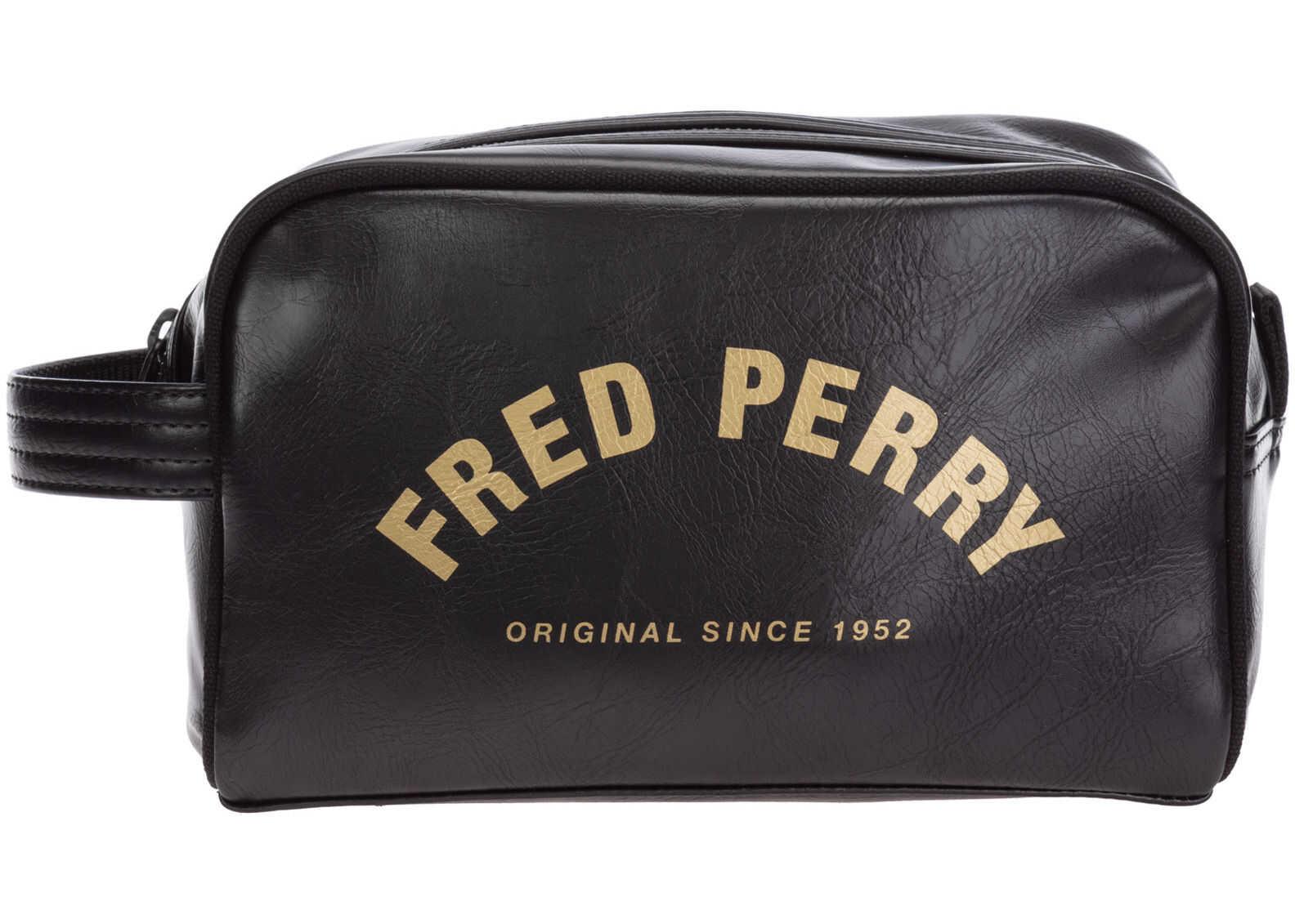 Fred Perry Wash Bag L9250 Black imagine b-mall.ro