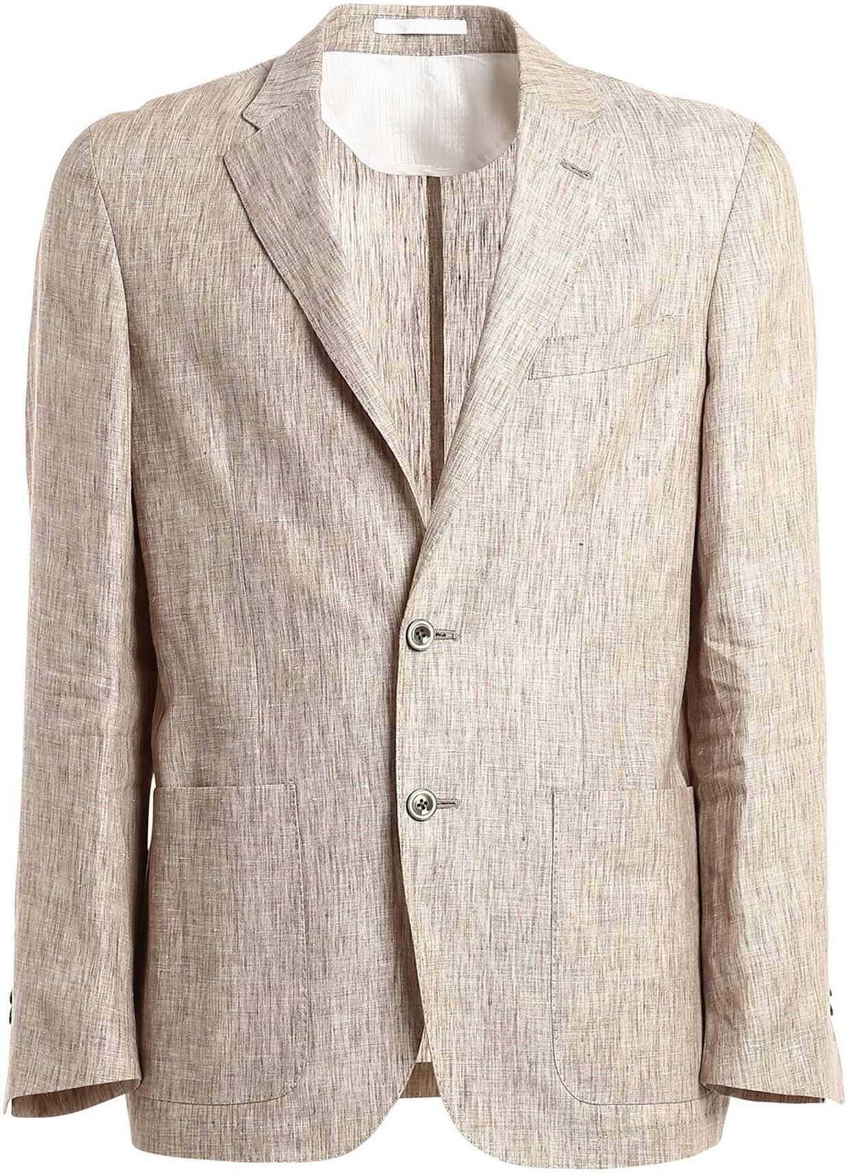 CORNELIANI Linen Blazers In Beige Beige imagine