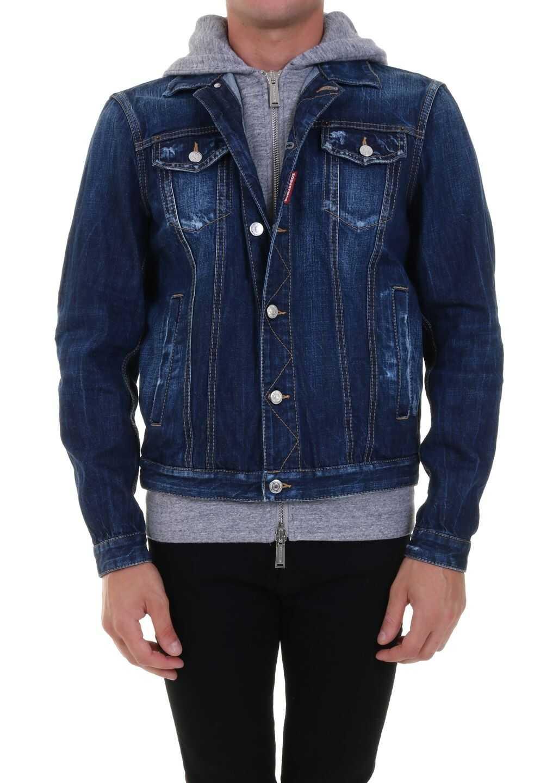 DSQUARED2 Icon Denim Jacket Blue imagine