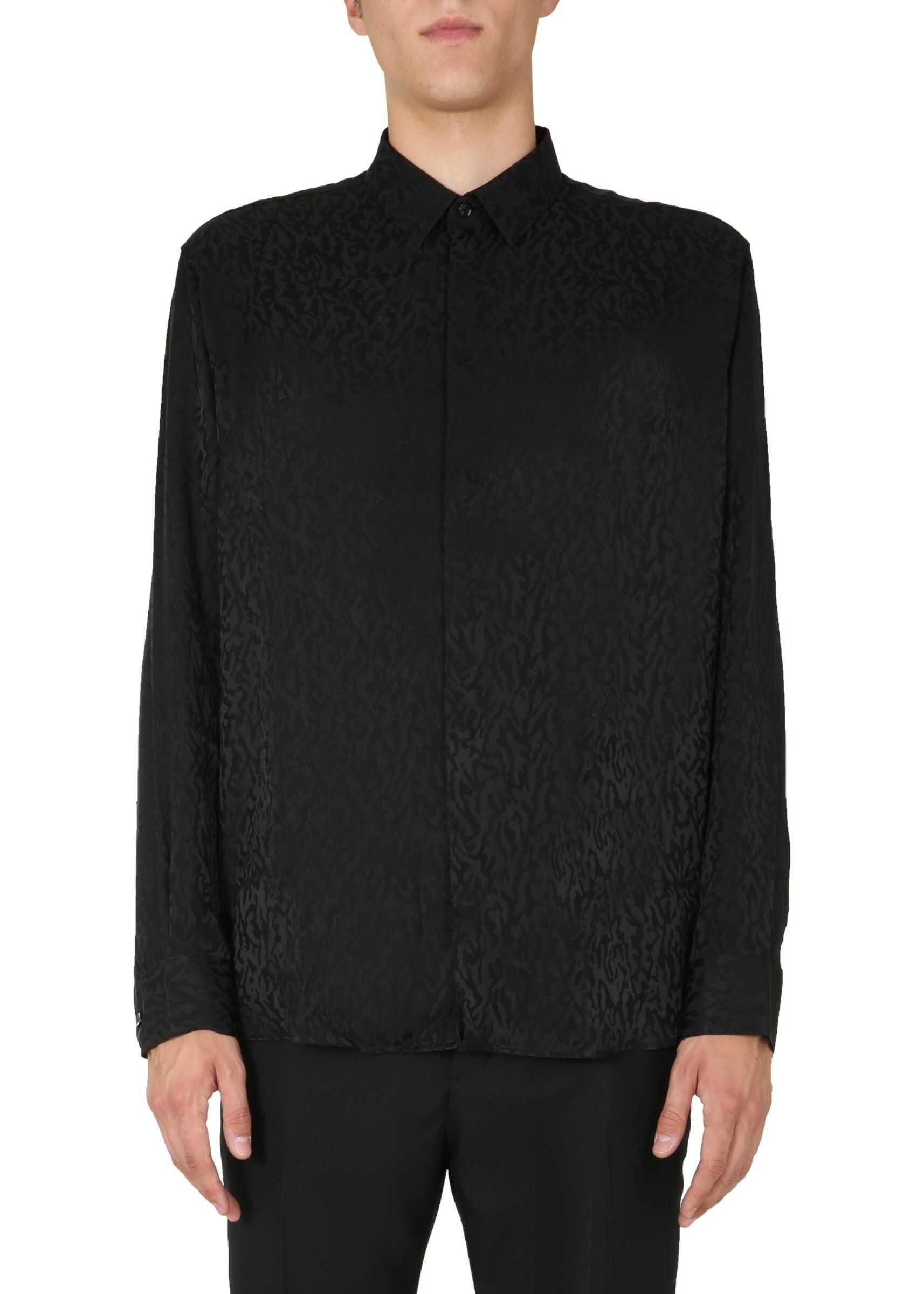 Saint Laurent Yves Collar Shirt BLACK imagine