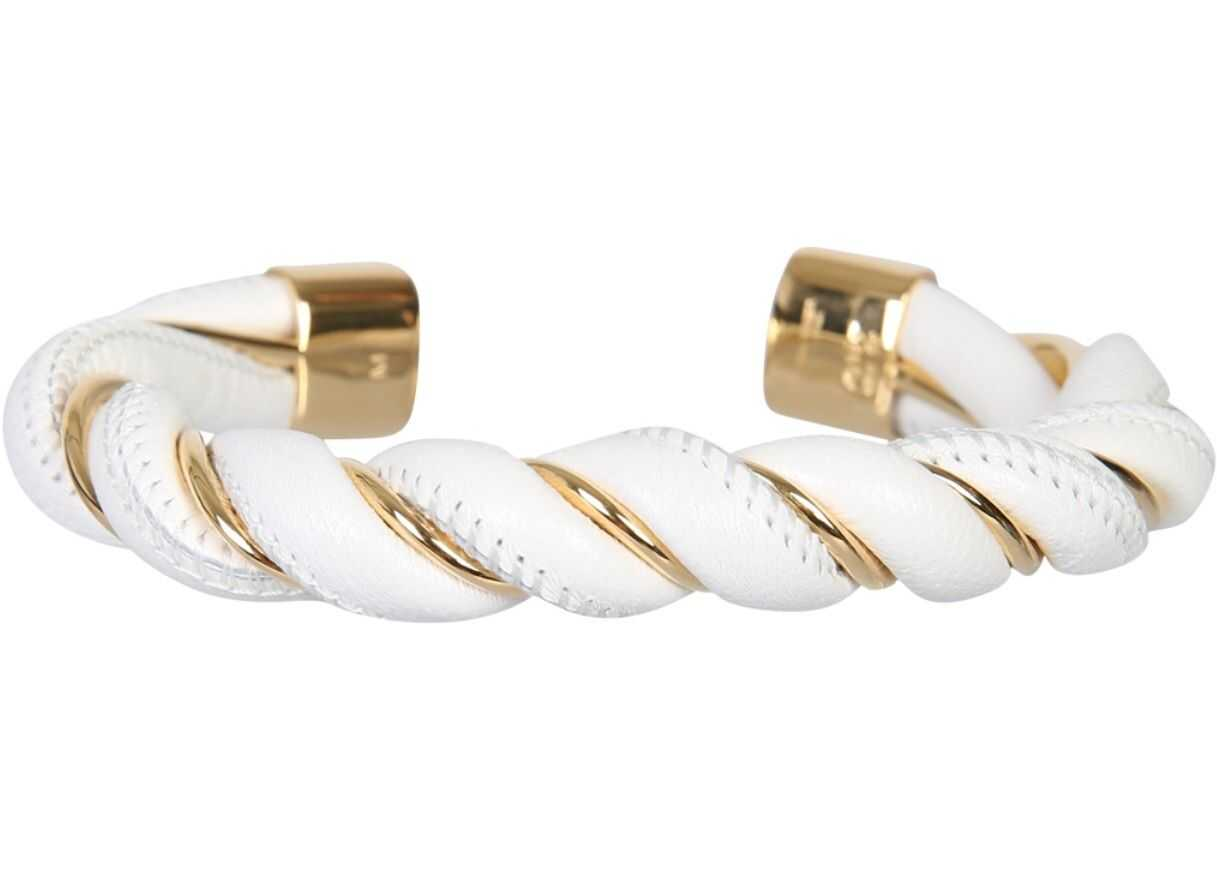 Bottega Veneta Spiral Bracelet WHITE