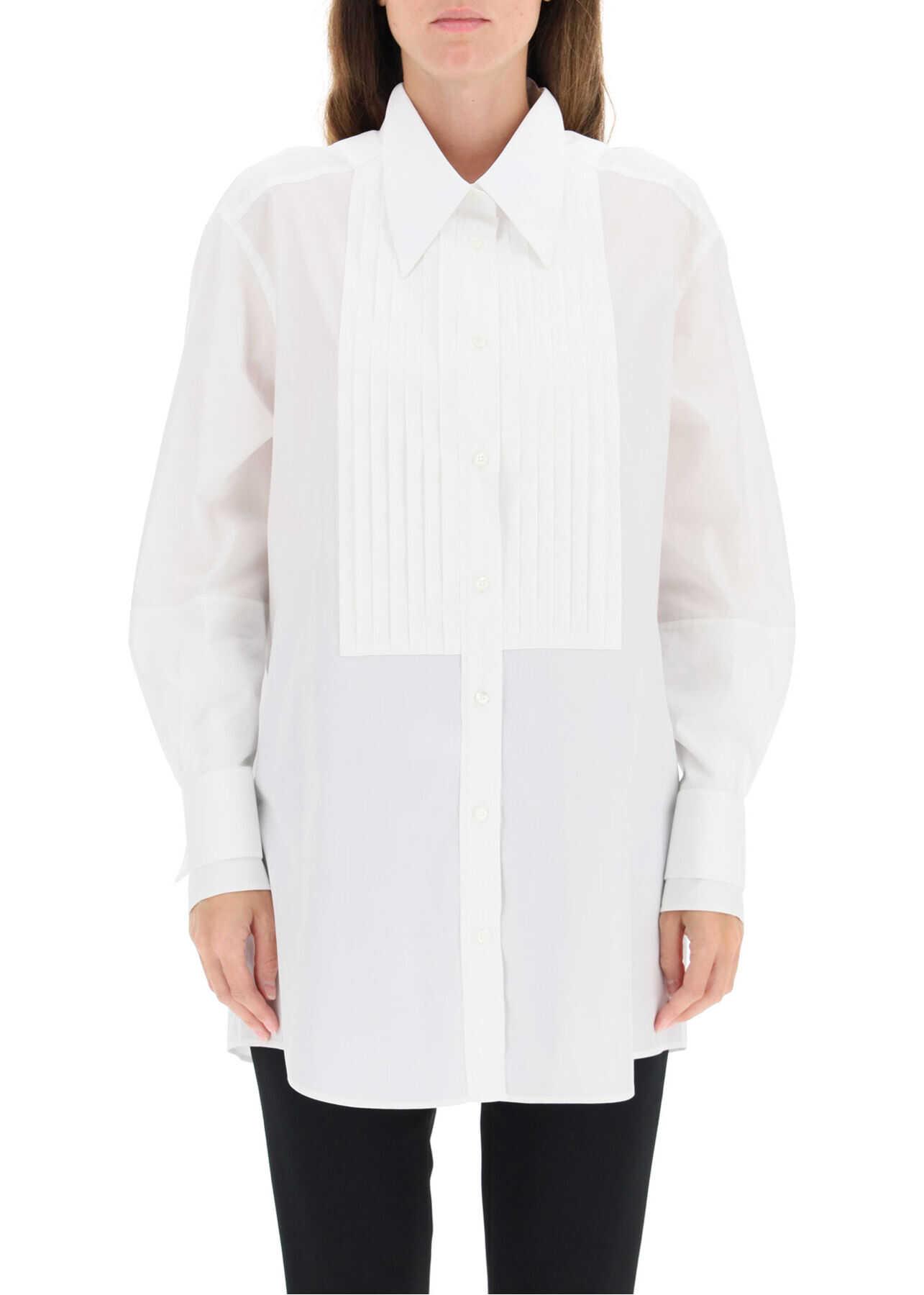 Dolce & Gabbana Oversized Cotton Shirt F5N99T FU5K9 BIANCO OTTICO image0
