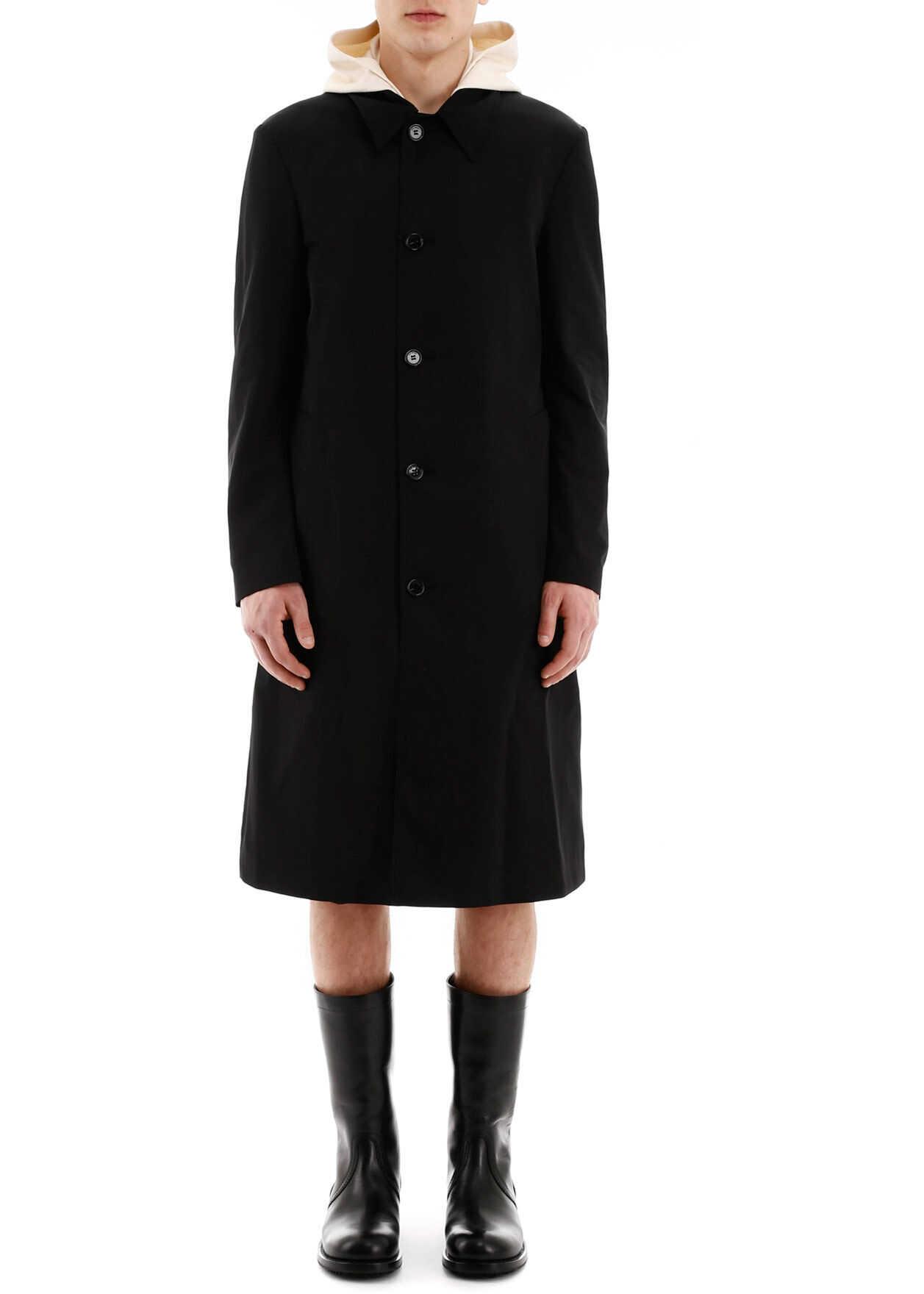 Raf Simons Car Coat Slim Fit Raincoat BLACK imagine