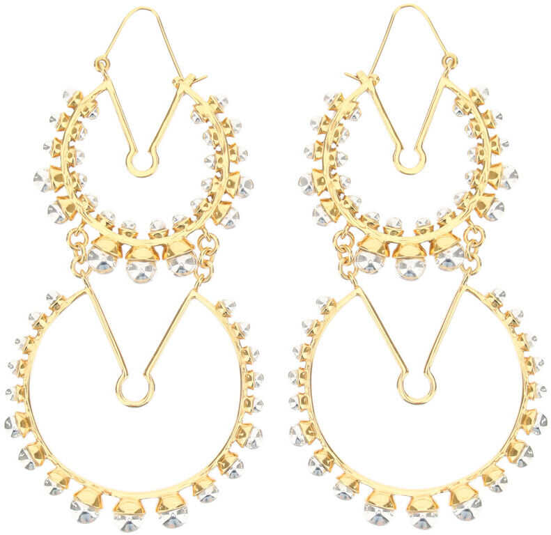 Patou Double Circle Earrings GOLD SILVER