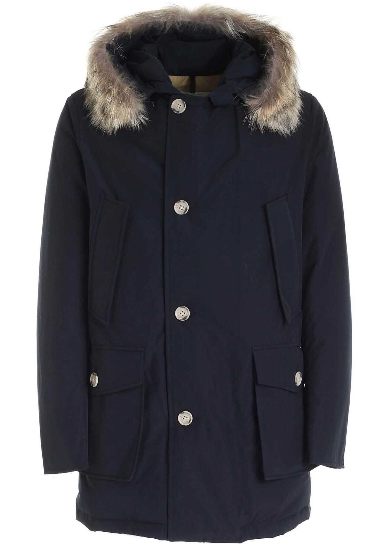 Woolrich Artic Parka Down Jacket Dark Blue Blue imagine