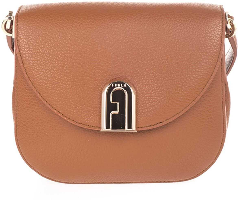 Furla Sleek H Shoulder Bag In Brown BZJ6ARHSF00003B000 Brown imagine b-mall.ro