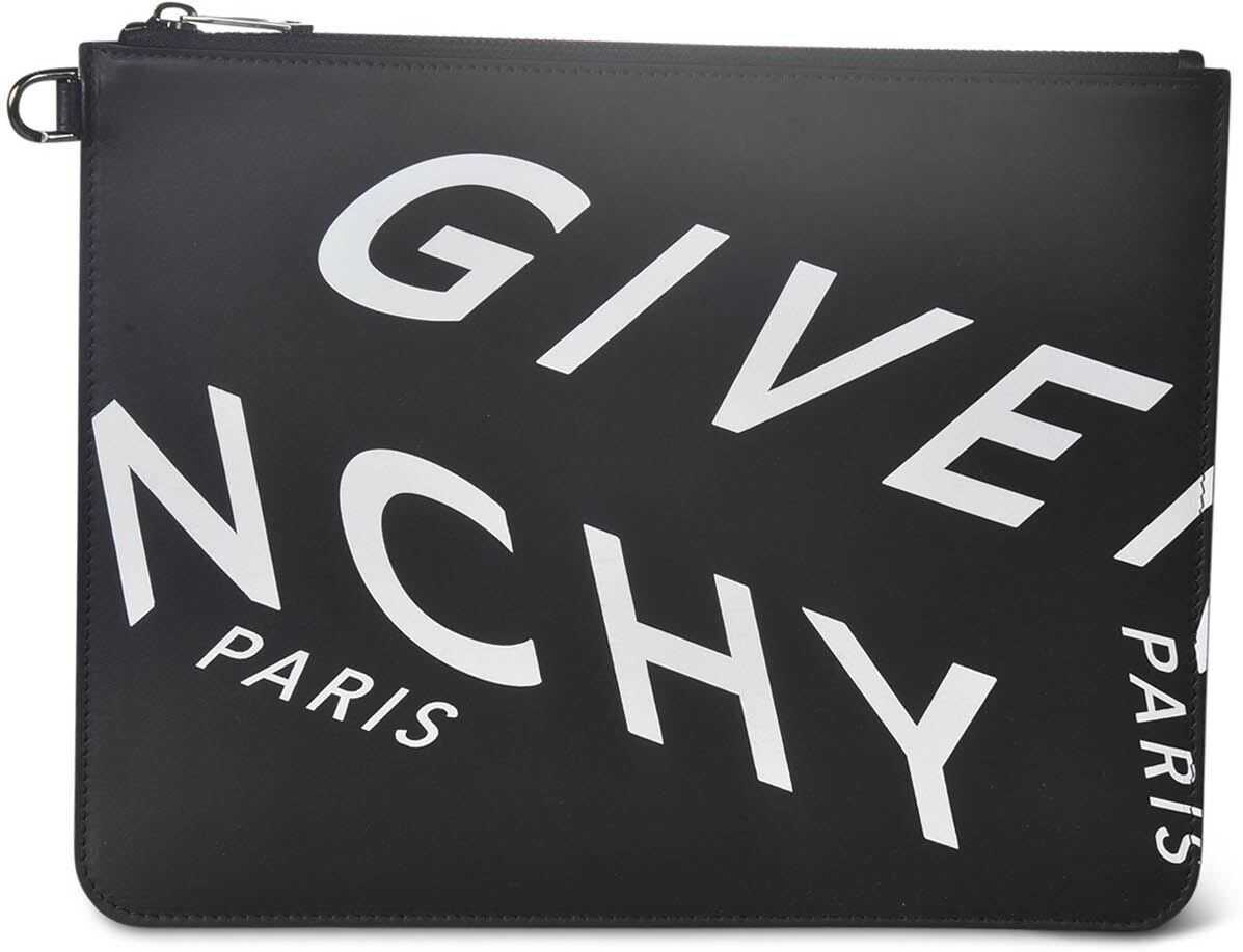 Givenchy Refracted Pouch In Black BK600JK0XG 004 Black imagine b-mall.ro