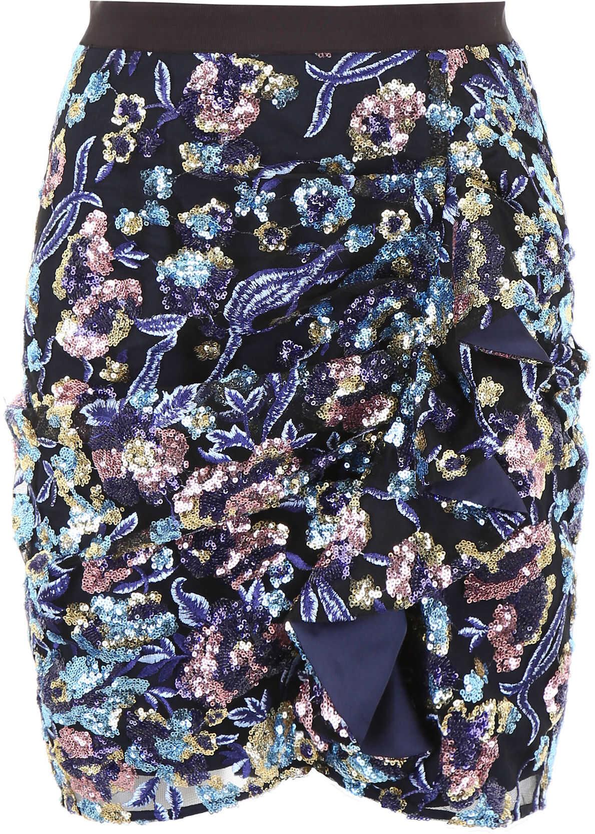 Self-Portrait Mini Skirt With Sequins* MULTI