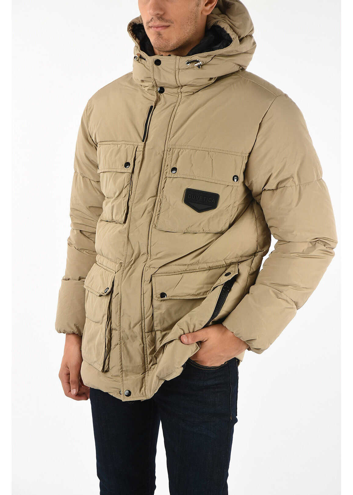 Duvetica Hooded MM010 SAFARI Down Jacket BEIGE imagine