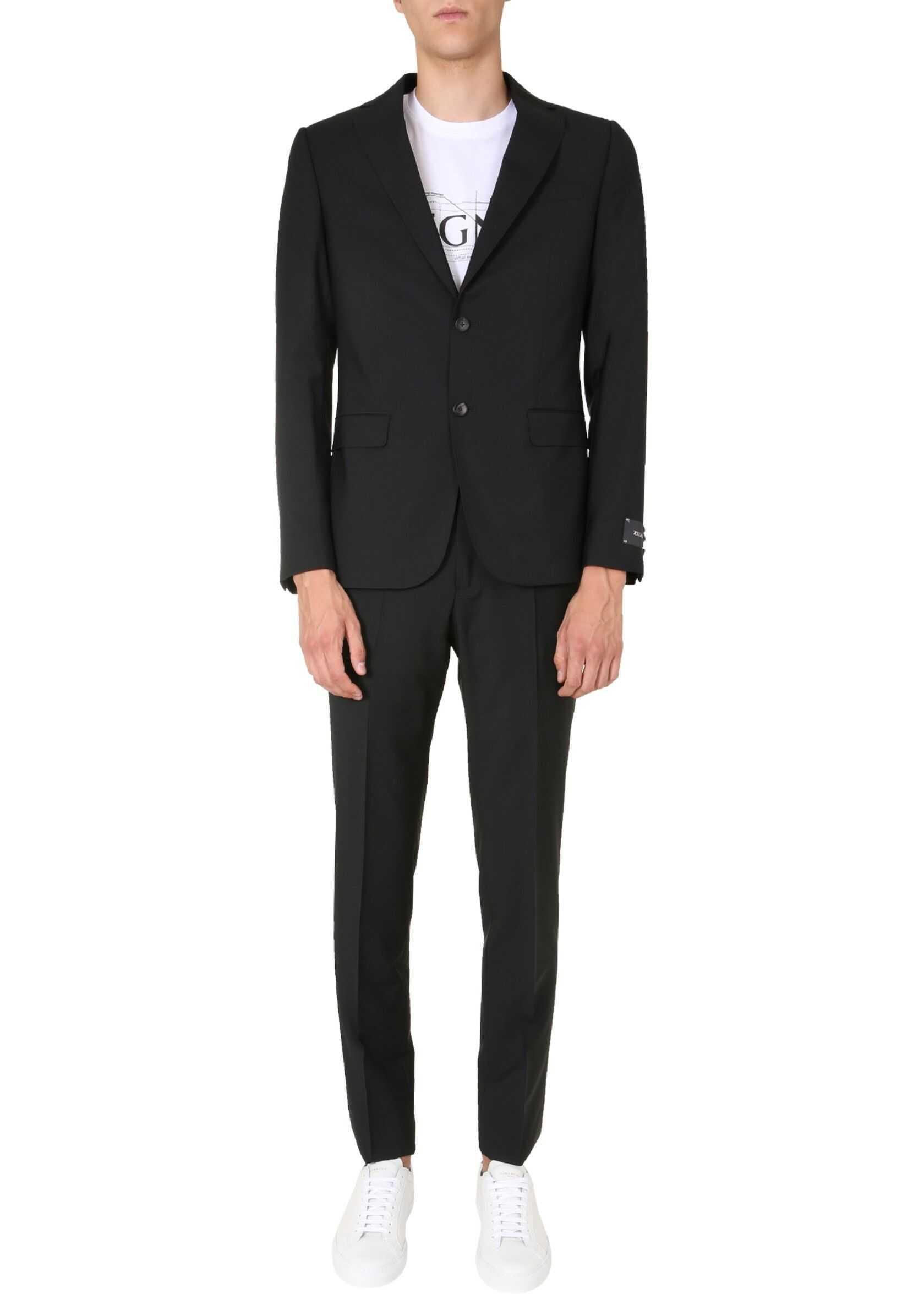 Z Zegna Slim Fit Suit BLACK imagine