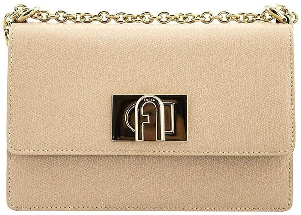 Furla 1927 Mini Leather Satchel Bag In Beige BAFKACOARE000B4L00 Beige imagine b-mall.ro