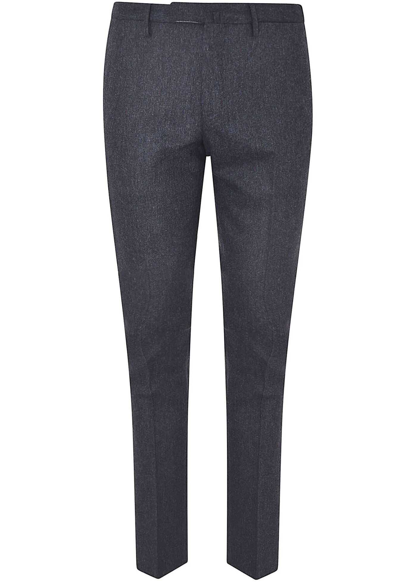Incotex Dark Gray Suit Pants With Crease Grey imagine