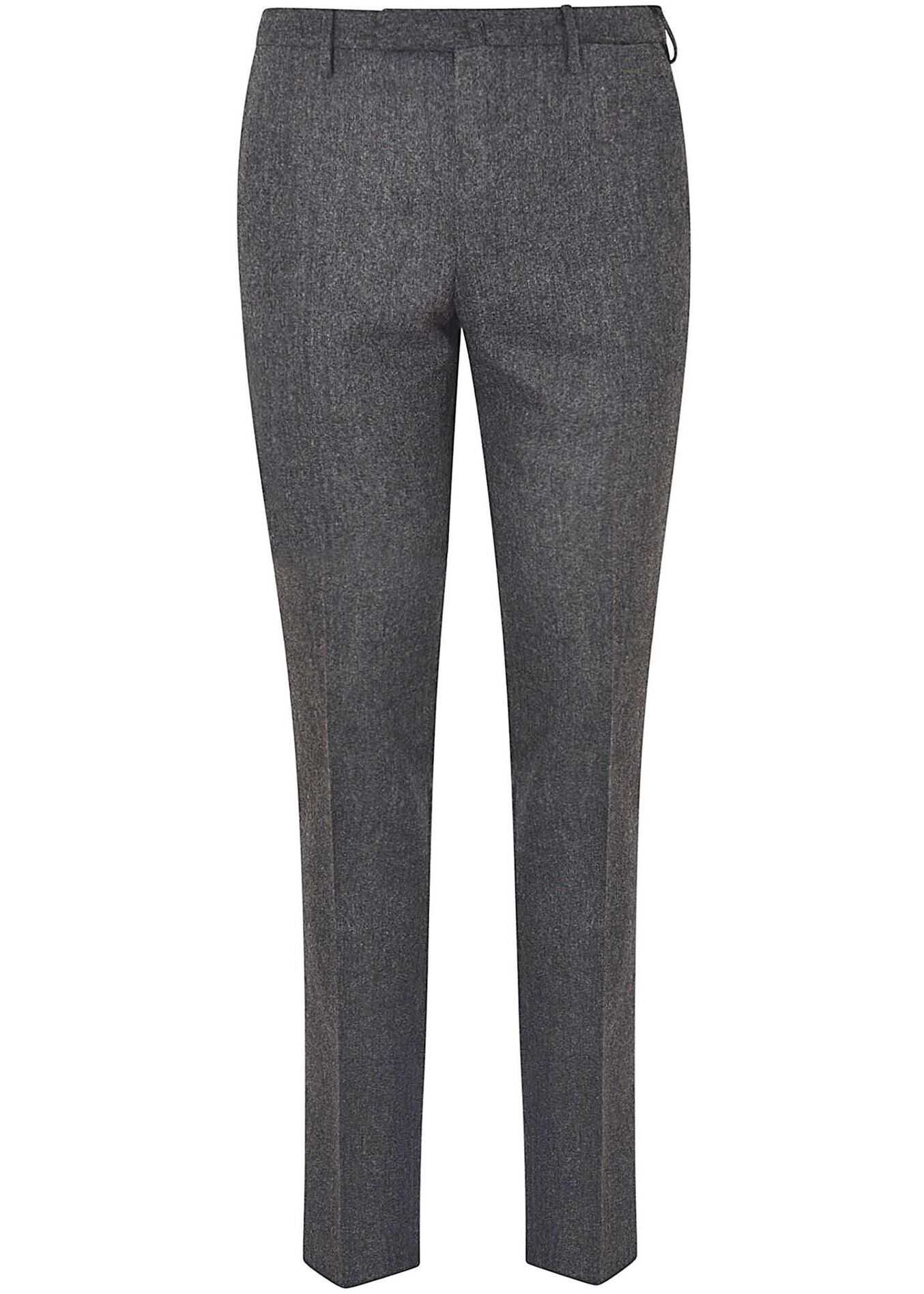 Incotex Gray Suit Pants With Crease Grey imagine