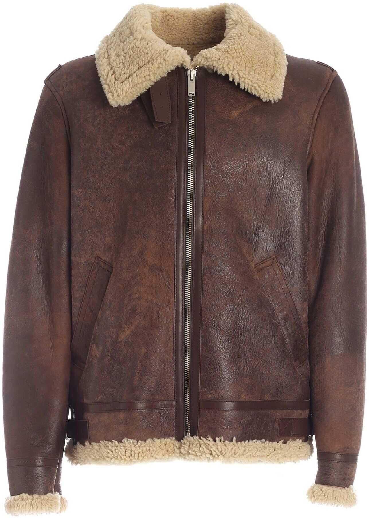 Golden Goose Arvel Jacket In Brown Brown imagine