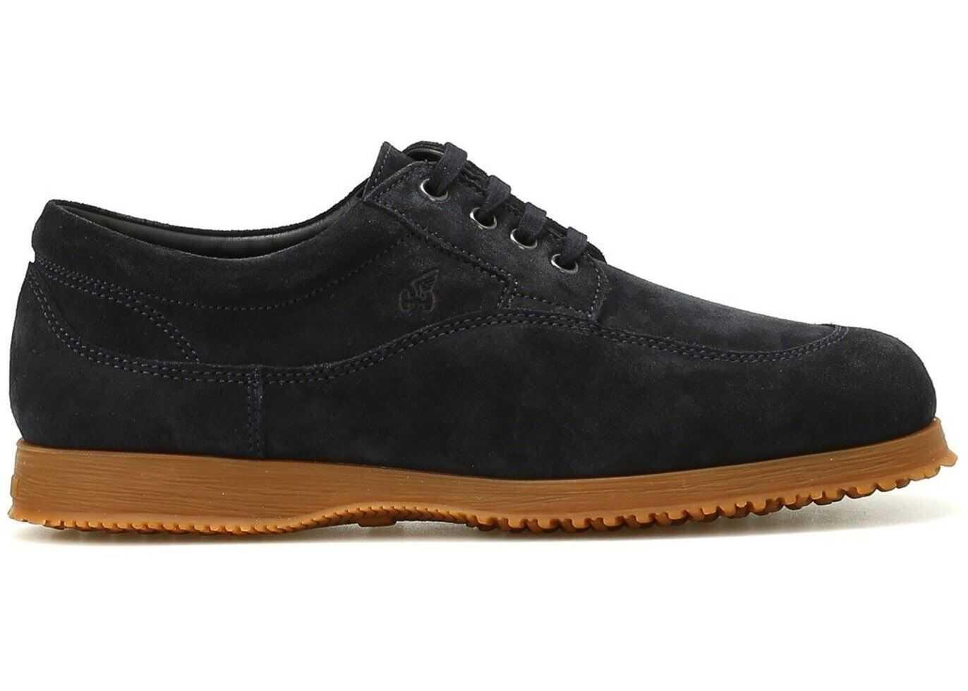 Hogan Traditional Suede Shoes In Blue HXM00E00110HG0U805 Blue imagine b-mall.ro