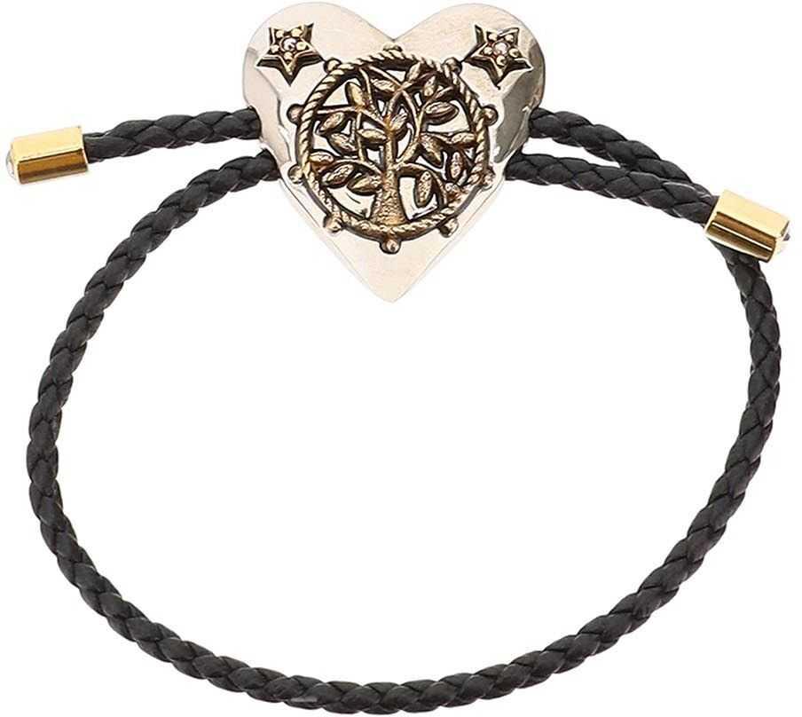 Alexander McQueen Heart Friend Bracelet BLACK